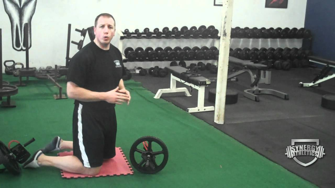 How To Correctly Do Ab Wheel Roll Out Exercise - YouTube