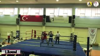 20 saniyede nakavt / 2019 Büyükler İstanbul Boks Şampiyonası / Ağır siklet / Timur Çınar / Mavi köșe