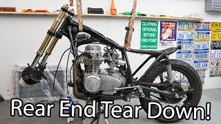 homepage tile video photo for Cafe Racer Tear Down Continues - CB550 Cafe Racer Build Pt. 77