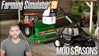 IL FAUT VITE SEMER AVANT LA PLUIE !!! 🌧 (Mod seasons) - Farming simulator 19