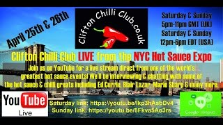 Clifton Chilli Club Live From New York City Hot Sauce Expo - Day 1