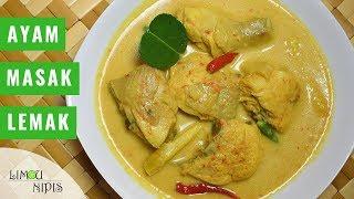 For video recipe in english, please watch it here : https://www.youtube.com/watch?v=pnp9vTaBEmk Resepi : - 1/3 ekor ayam (potong 6) - 2 batang serai (ketuk) ...