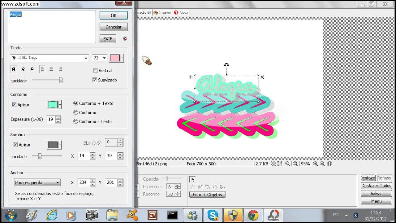 Como fazer logotipo no photoscape youtube for Programas para disenar piscinas gratis