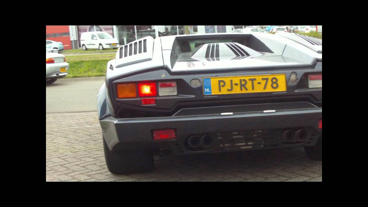Countach 25th Anniversary Burnout 1080p Youtube