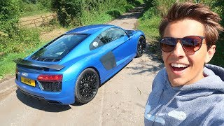 FIRST DRIVE IN MY AUDI R8 V10 PLUS!!