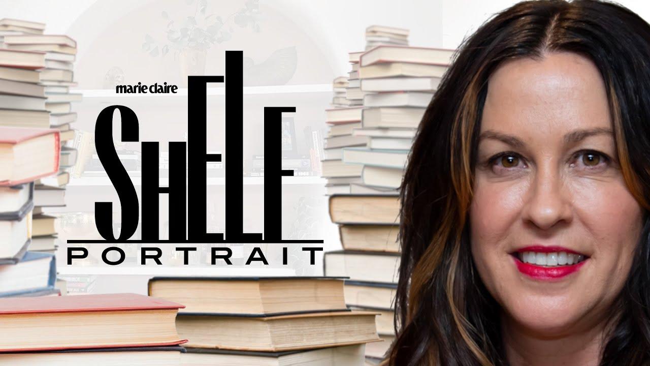 Alanis Morissette Takes Us Inside Her Massive Home Library   Shelf Portrait   Marie Claire