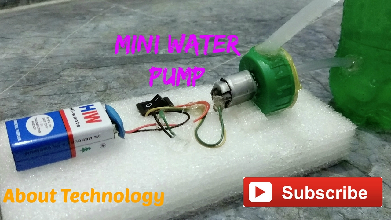 How to make a dc motor electric water pump youtube for How to make a electric motor
