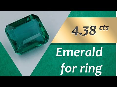 Emerald Ring: Design Unique Ring with Emerald 4.38 Carats