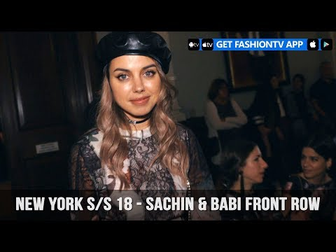 New York Spring/Summer 2018 - Sachin & Babi Front Row   FashionTV