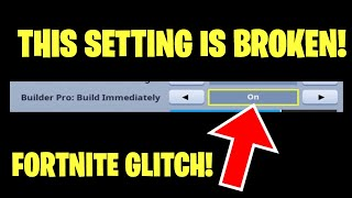 FORTNITE BUILDER PRO BUILD INSTANTLY IS BROKEN! NEW FORTNITE GLITCH. FORTNITE V7.40 LEAKS GLITCHES