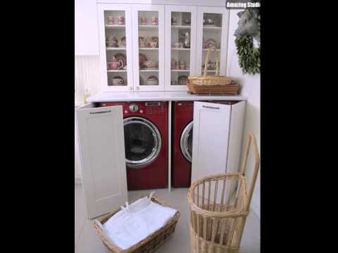 Hidden Laundry Room In Kitchen Area