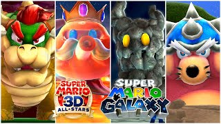 Super Mario 3D All-Stars: Super Mario Galaxy - All Boss Fights, ENDINGS, & Credits (Switch)