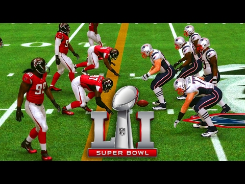 PATRIOTS or FALCONS?! - NFL Super Bowl LI (Madden 17 Prediction Simulation)