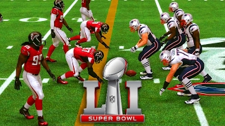 patriots or falcons nfl super bowl li madden 17 prediction simulation