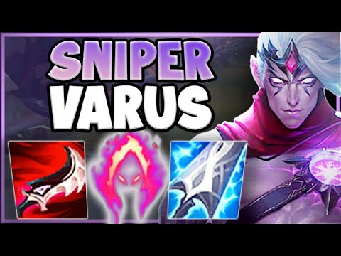 KILL THE ENEMY FROM A MINIMAP AWAY! SNIPER VARUS IS 100% OP! VARUS TOP GAMEPLAY! League of Legends