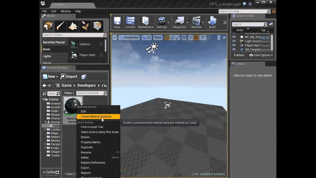 Creating and using Material Instances  | Unreal Engine