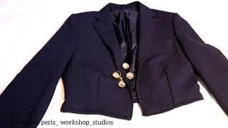 DİY переделала мужской пиджак на женский мои лоуки с коротким пиджаком