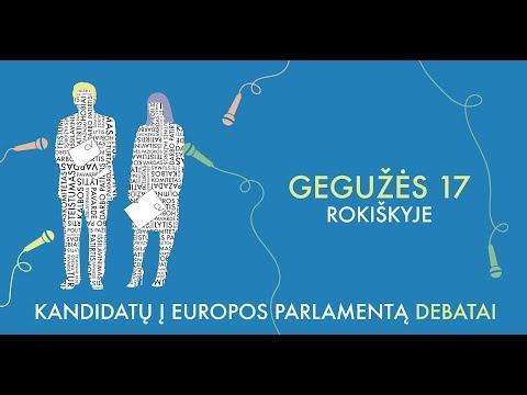 Tiesiogiai: Kandidatų į Europos Parlamentą debatai Rokiškyje