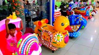Download Video Mainan Anak Naik Odong odong mobil mini Binatang Lucu yang banyak sekali bersama teman MP3 3GP MP4