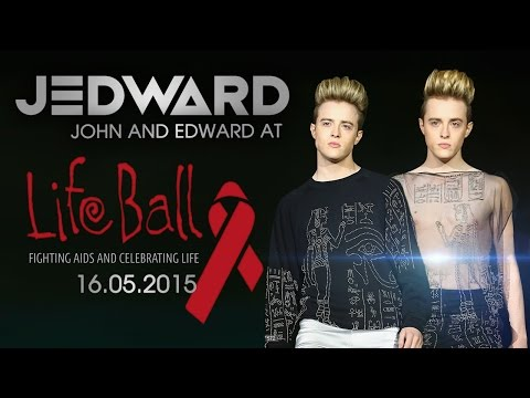 Jedward at The Life Ball 2015