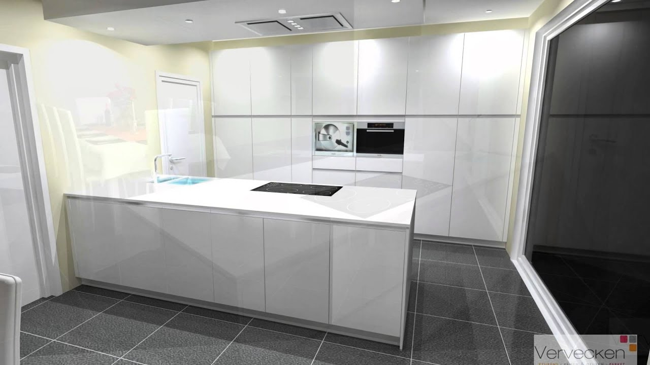 Werkblad keuken composiet witte keuken met wit composiet