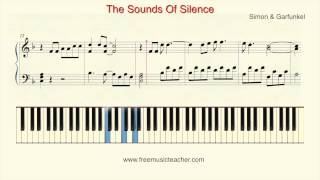 "How To Play Piano: Simon & Garfunkel ""Sounds Of Silence"" Piano Tutorial by Ramin Yousefi"