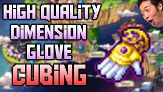 MapleStory [Reboot] - HQ Dimension Glove Cubing!