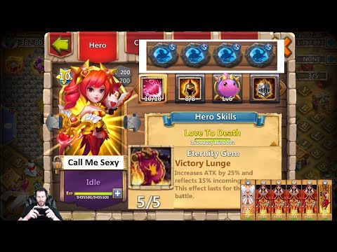 Dove Keeper OWNS GunsSlinger Smashing Heroes INSANE Damage Castle Clash
