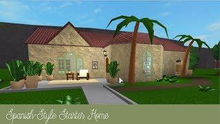 Roblox Bloxburg   Spanish-Style Starter Home [Speed Build]