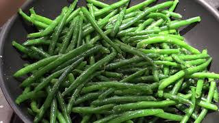 Simple Sauteed String Beans