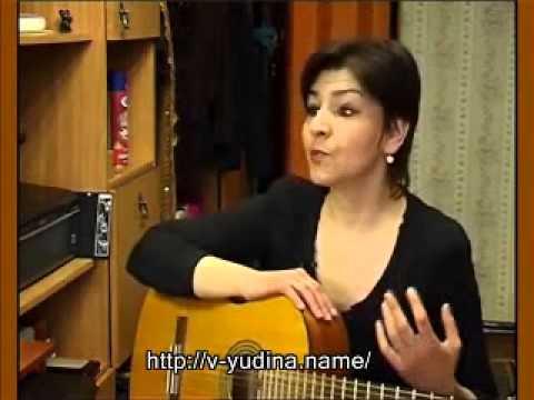 Исполнительское мастерство песен под гитару Победа Юдиной на конкурсах авторской песни