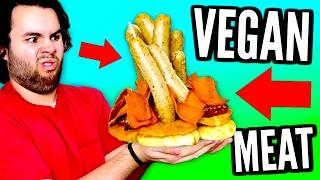 DIY VEGAN MEAT MOUNTAIN - Giant Fake Bacon, Ribs, Hot Dog DIY Mountain