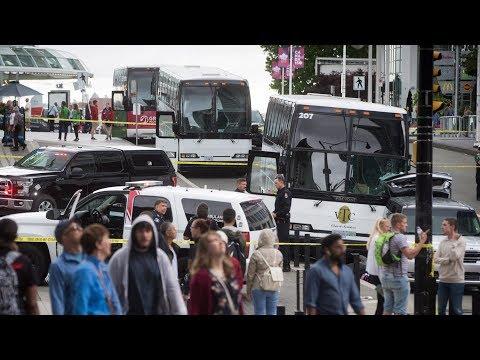 1 dead after tour bus crash into pedestrians in Vancouver
