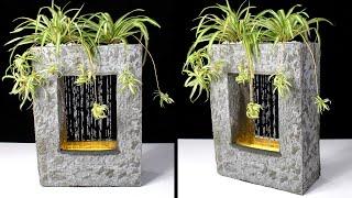 Настольный фонтан или декоративный водопад своими руками | Как сделать настольный фонтан