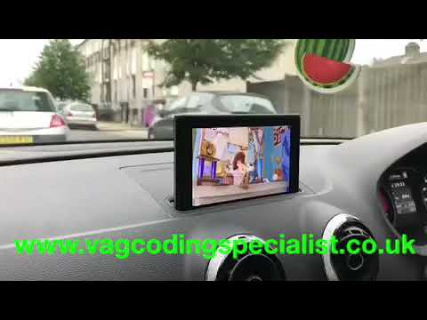 Audi S3 8V PFL (63) Video In motion activation on MIB2 High Head unit