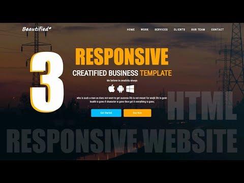 #3-Build An HTML 5 Responsive Website Design From very scratch
