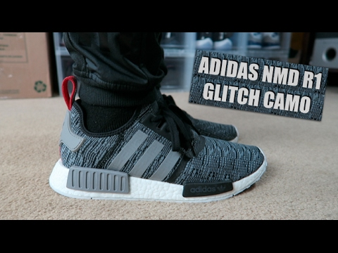Adidas NMD R1 glitch Camo pack en pies YouTube