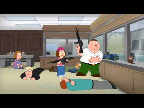 Peter and Meg bank Robbery