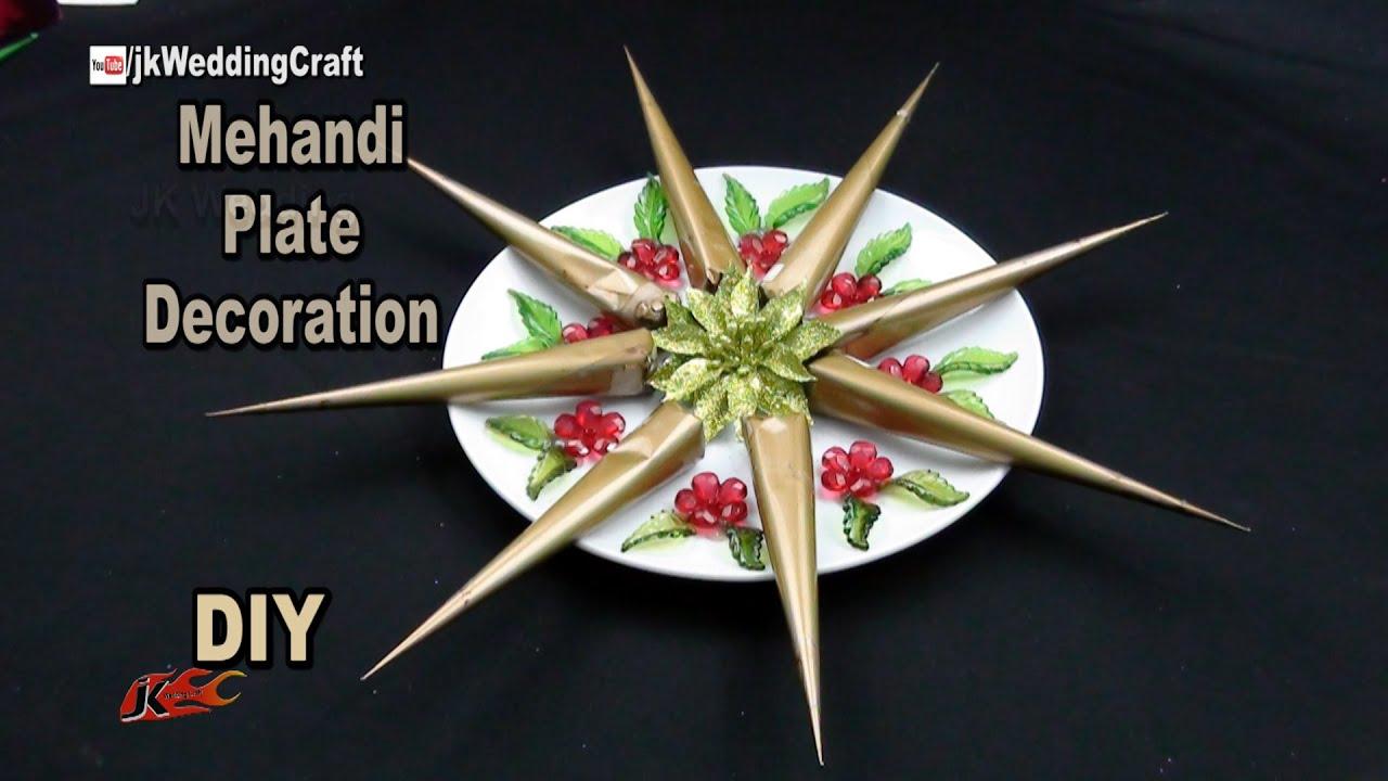 Diy Mehndi Plates : Diy decorative mehndi cone plate wedding decoration jk