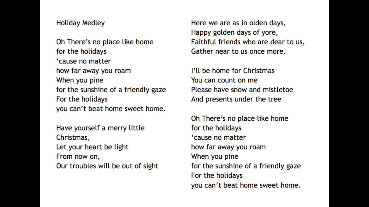 Holiday Medley - YouTube