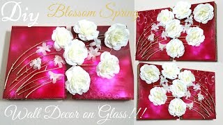 Diy Blossom Spring on Glass Wall Decor | Simple and Inexpensive Wall Decorating Idea!!!