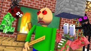 Monster School : BALDI BECAME VILLAIN -  RIP Minecraft Animation