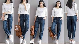 Women Trousers Casual Denim Pants High Waist Jeans Review | Best Jeans For Women Fashion 2018