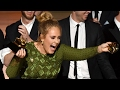 Adele BREAKS Grammy Award In Half & Shares It With Beyonce At 2017 Grammy Awards