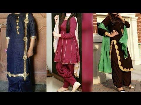 New Lace Design Idea On Salwar Suit 2019 Stylish Punjabi Dress Design With Lace Youtube