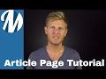 Create Article Page Using MagLoft TypeLoft Editor