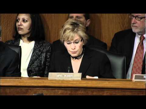Senator Boxer Discusses Afghanistan in Senate Foreign Relations Commitee Hearing