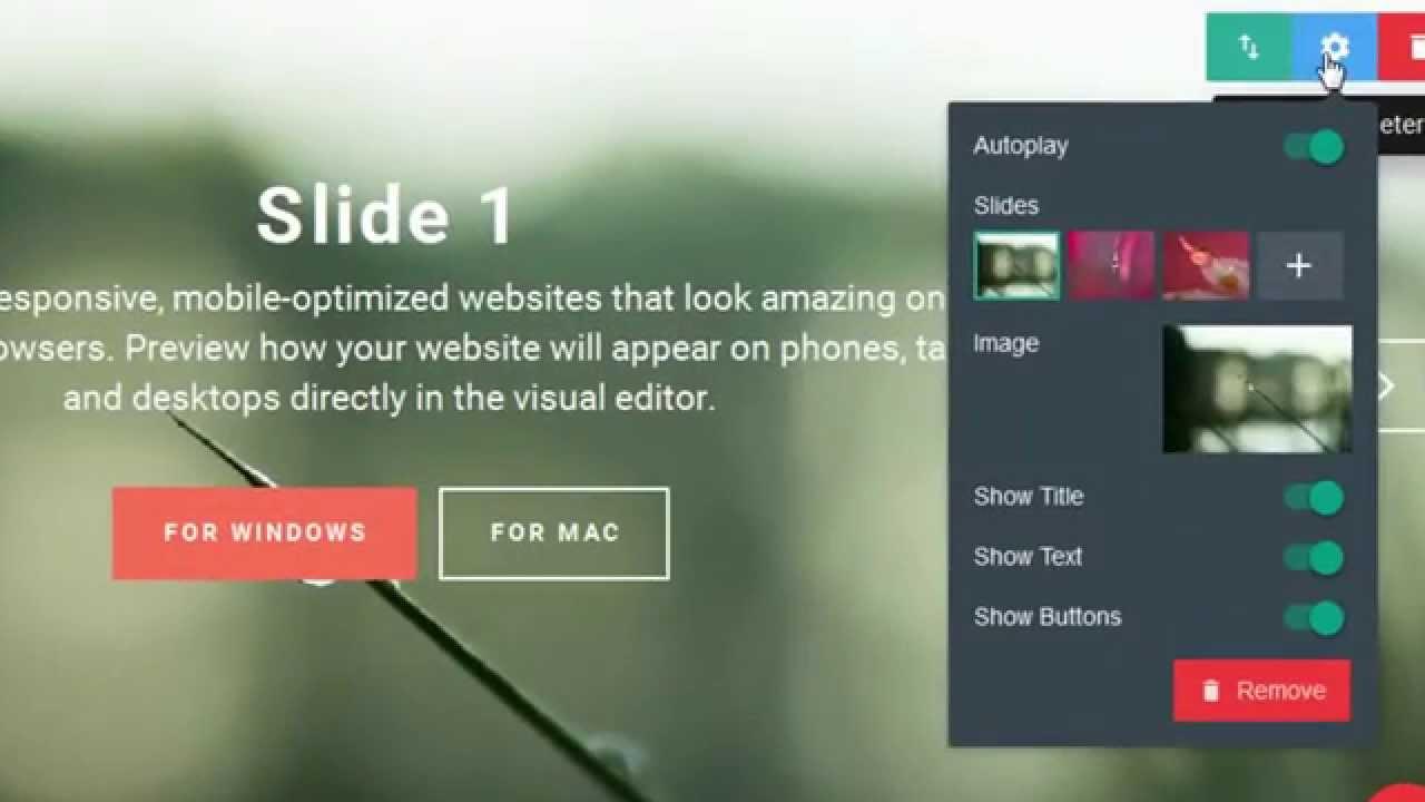 image slider block mobirise html5 website builder v1 9 youtube