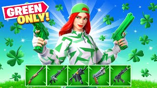 Fortnite... But *ONLY* Green Items!