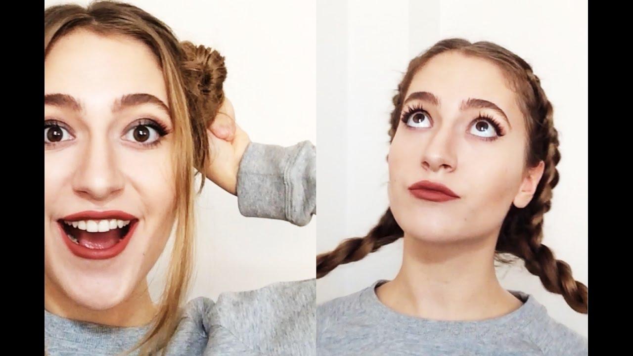 Okul için pratik saç modelleri lise